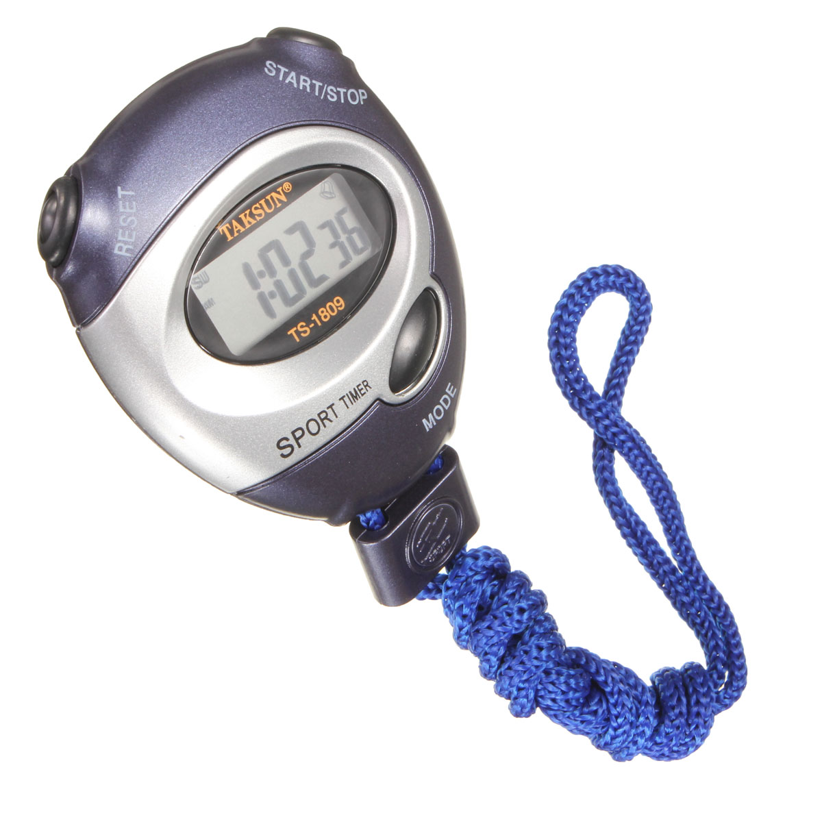 Digital Handheld Sports Stopwatch Stop Watch Time Clock Alarm Counter Timer Blue