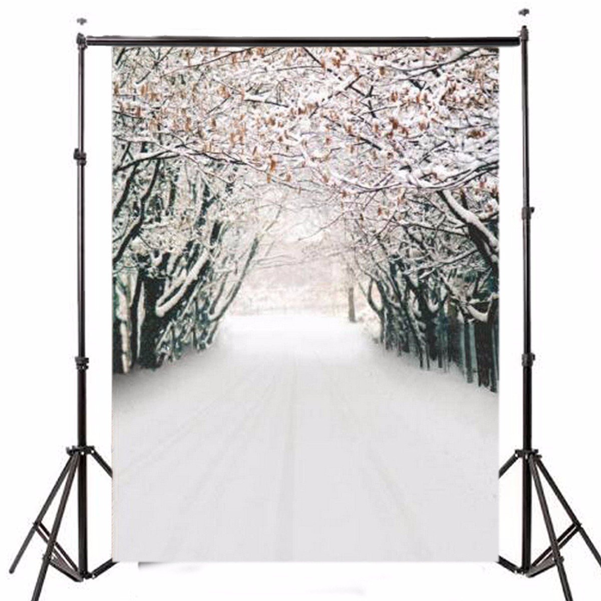 7x5FT Ice Snow Forest Theme Photography Vinyl Backdrop Studio Background 2.1m x 1.5m