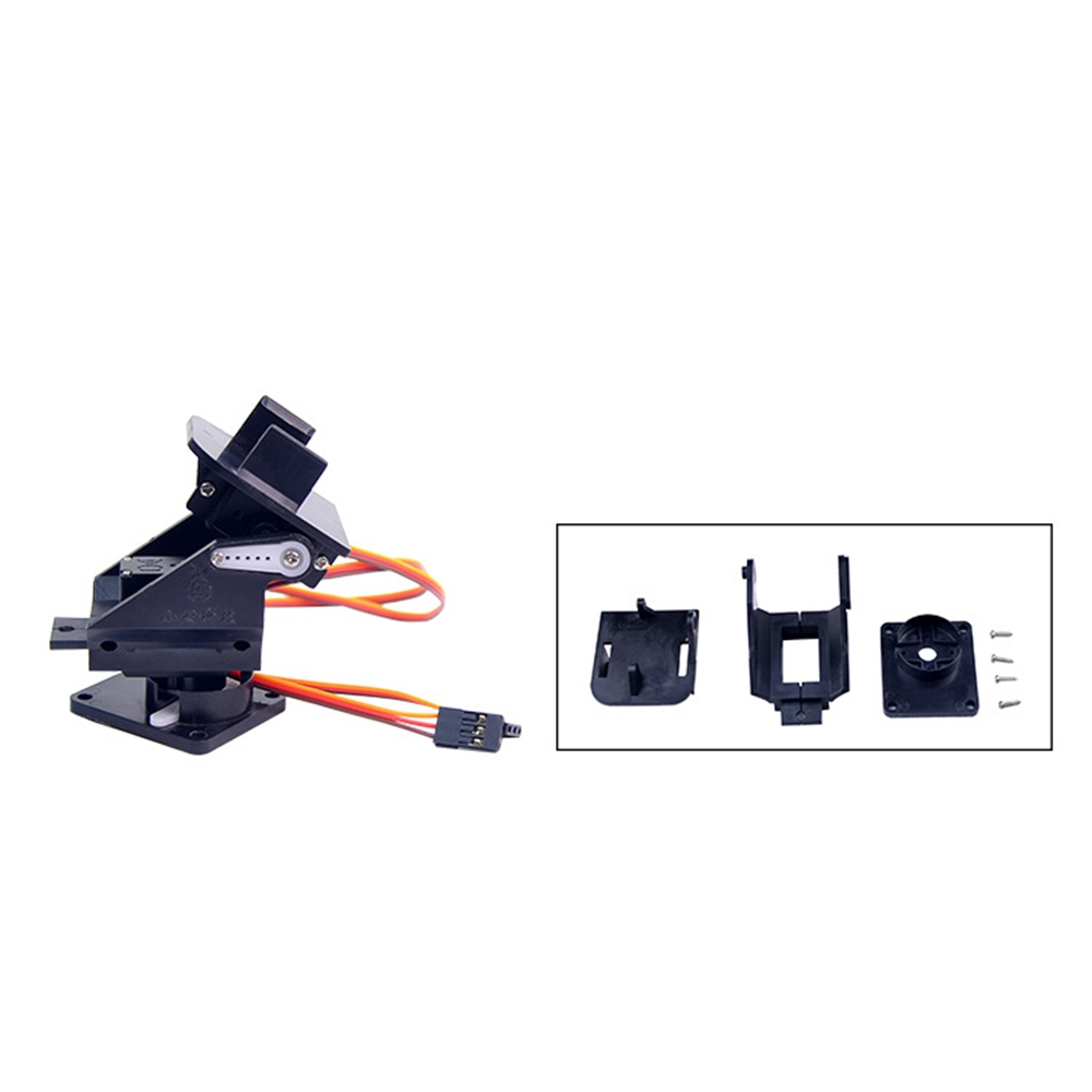 Pan Tilt 2 Axis Camera FPV Gimbal Mount Bracket W/2 Servos For SG90 Servo Ultrasonic Sensor RC Airplane Drone