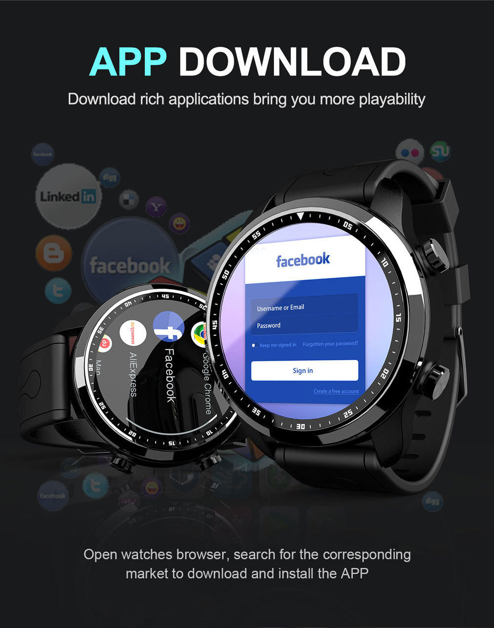 LOKMAT KC06 4G 1+16G GPS WIFI bluetooth Watch Phone 1.3'' OGS Touch Screen Smart Watch Optical Heart Rate Monitor Multiple Sports Modes Fitness Exercise Bracelet