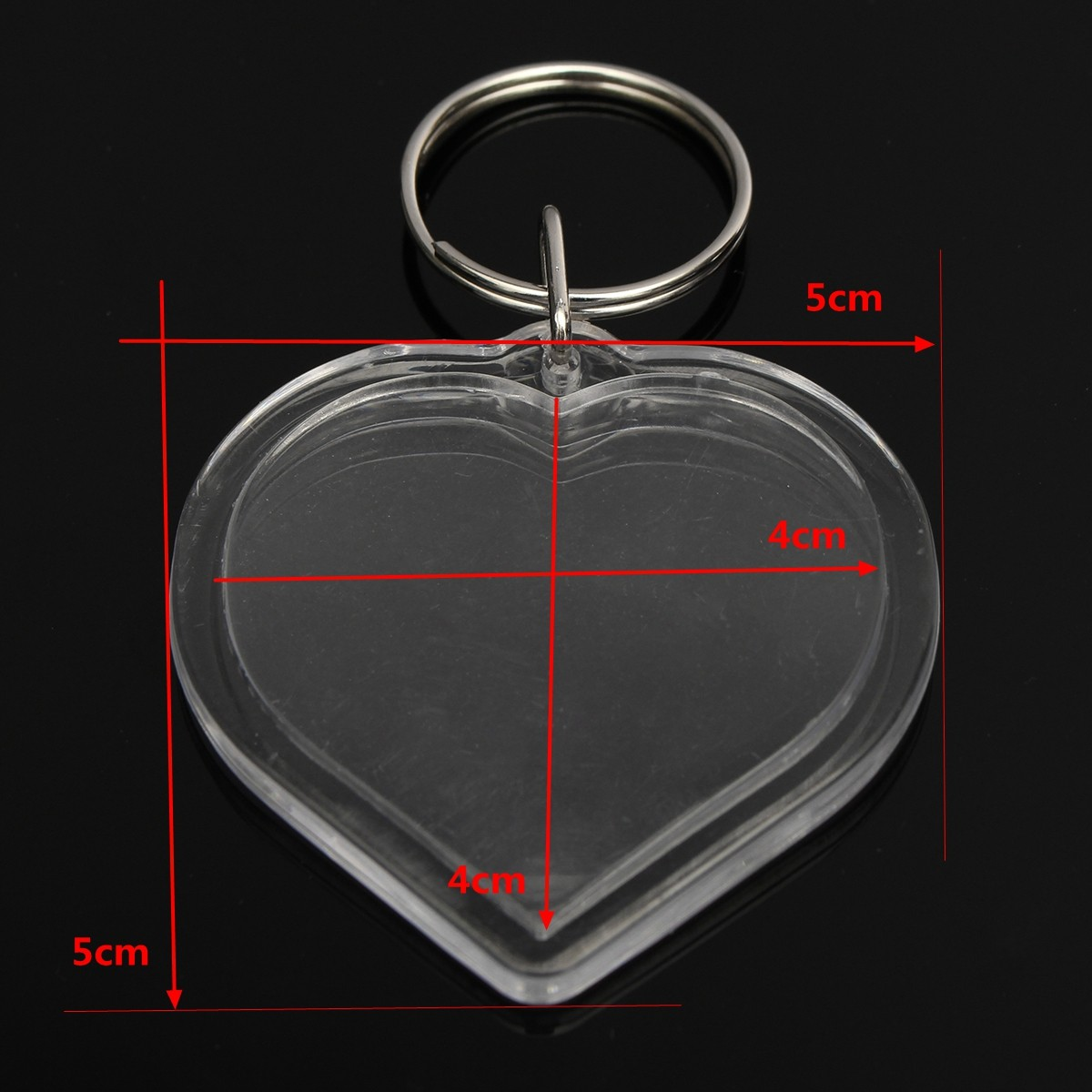 Photos Pictures Blank Key Ring Duplex Keychain