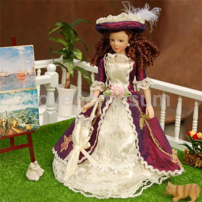 1/12 Doll house Miniature Porcelain Dolls Classical Vic