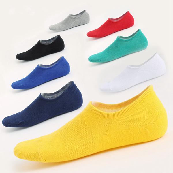 Unisex Invisible Silicone Anti-slip Breathable Comfortable Cotton Yoga Short Socks