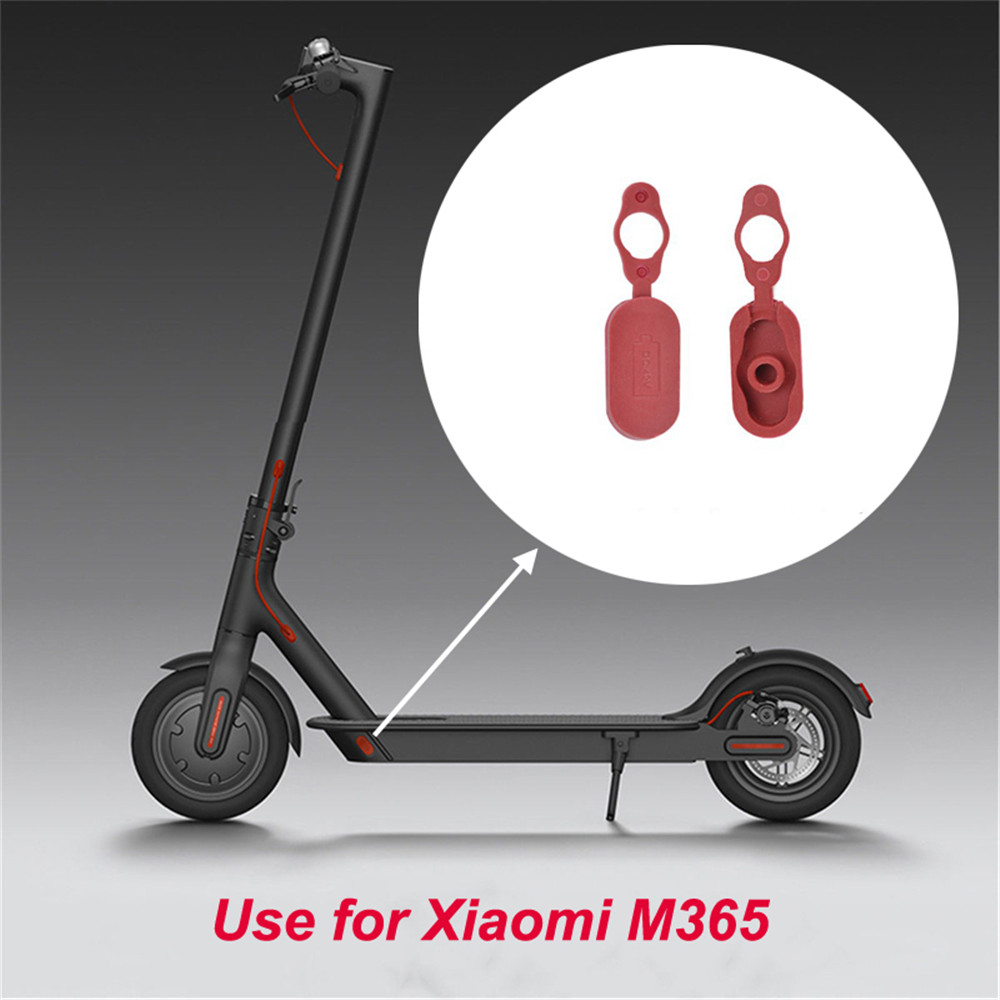2Pcs Charging Port Dust Plug Repair Parts for Xiaomi Mijia M365 Electric Scooter