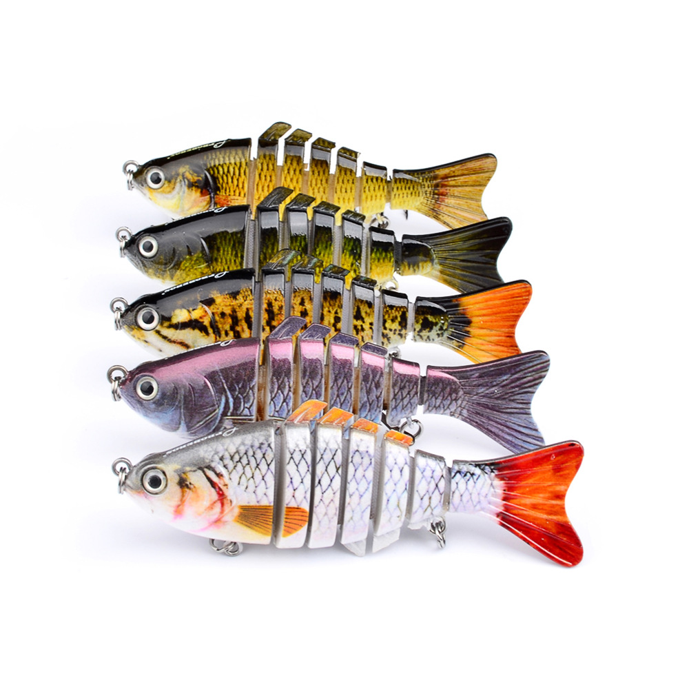 ZANLURE 10cm Mini Fishing Hard Bait Artificial Swimbait Fish Seven Knotted Fish Simulation Adult Fishing Outdoor Fun 15.5g Fishing Lure
