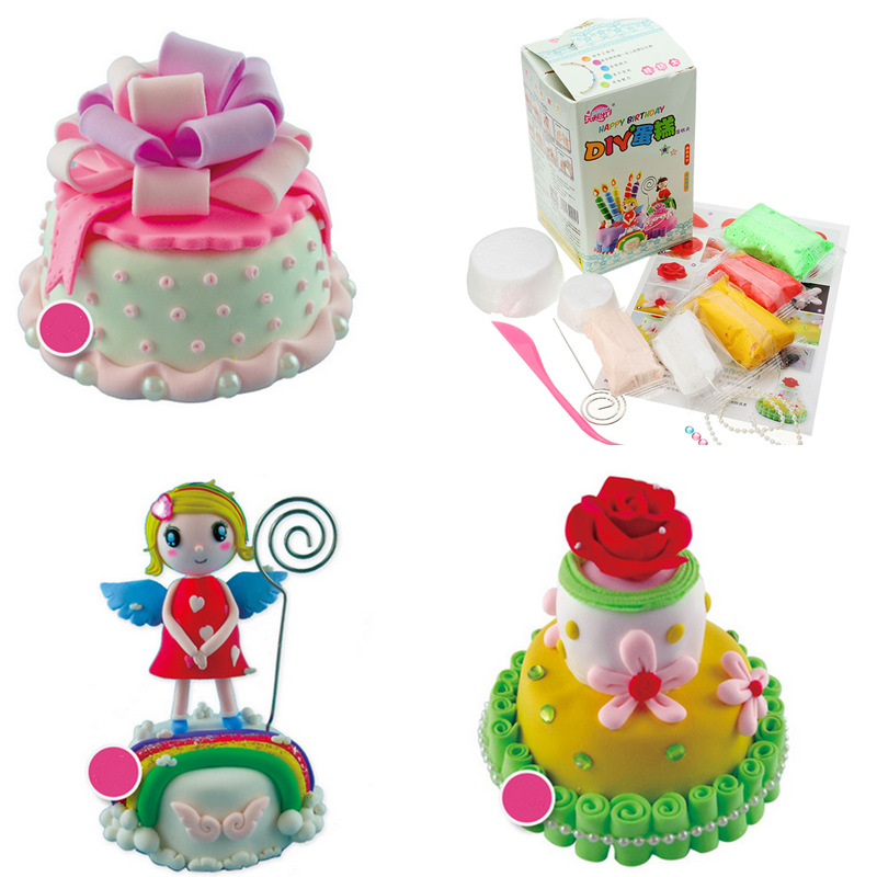 Paper Clay DIY Cake Figures With Manual SOFT Ultralight Non-Toxic Non-Brushed Magical Space Mud