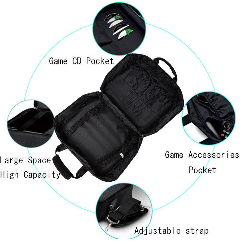 Carrying Case Console Video Game Disc Travel Bag Storage for Play Station 4