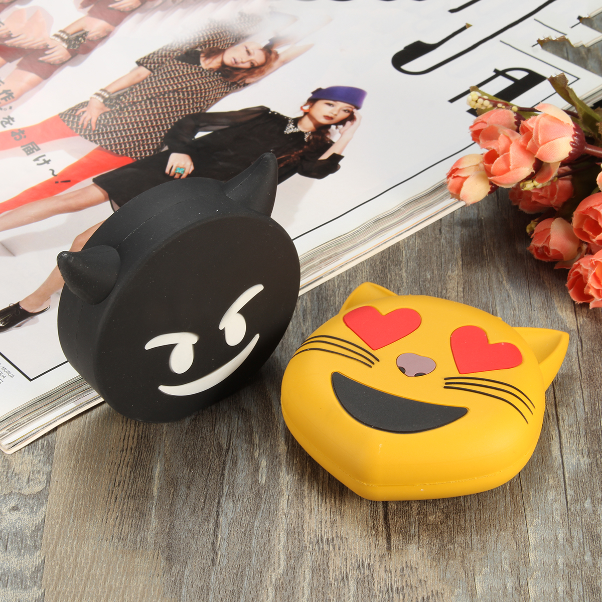Emoji Unicorn Cartoon Cute Portable Power Bank Shell DIY Battery Case Box for Samsung S8 iPhone 8