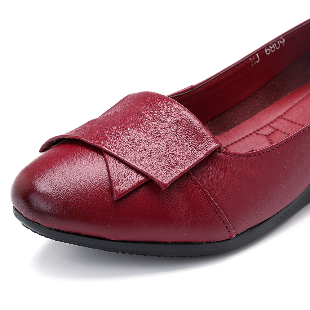 Women Comfortable Soft Leather Flats Loafers