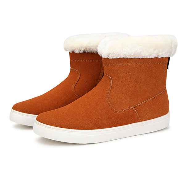 Winter Ladies Keep Warm Shoes Zipper Snow Boots Low Heel Cotton Snow Boots