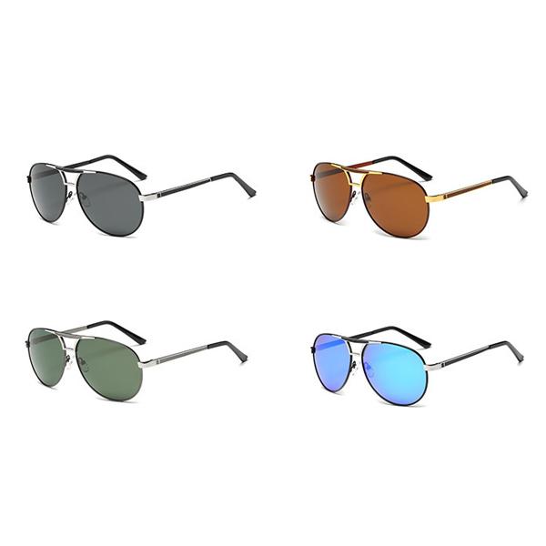 Unisex Men Women Polarized Sun Glassess Outdooors Sport Uv Protection Alloy Pilot Sun Glassess