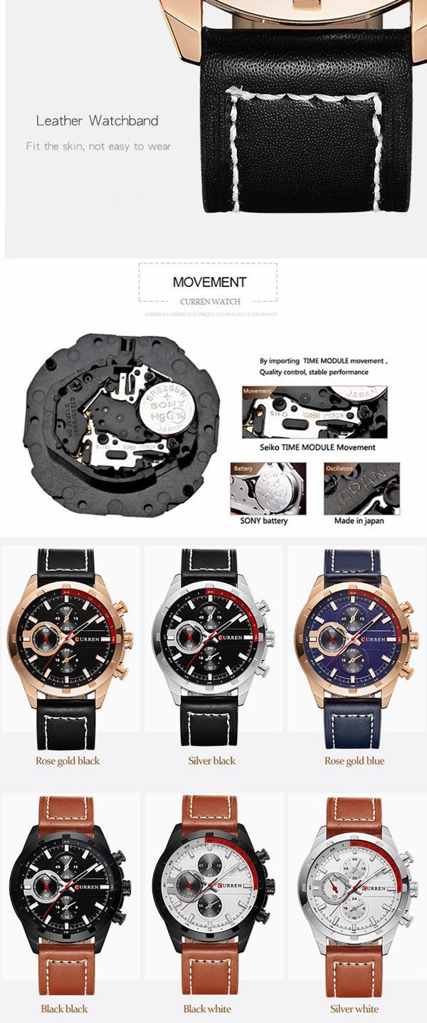 CURREN 8216 Luxury Men Quartz Watch Fashion Decorative Watch