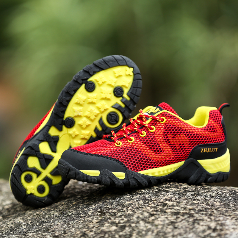 Big Size Unisex Outdoor Lace Up Athletic Shoes Breathable Hiking Shoes