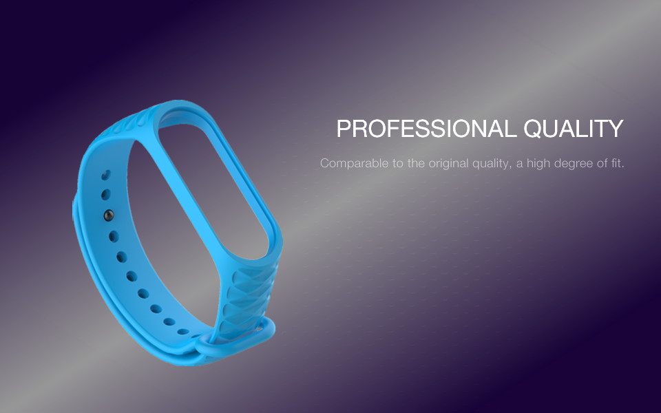Bakeey TPU Diamond Pattern Silicone Strap Replacement Bracelet Wristband for Xiaomi Mi Band 3