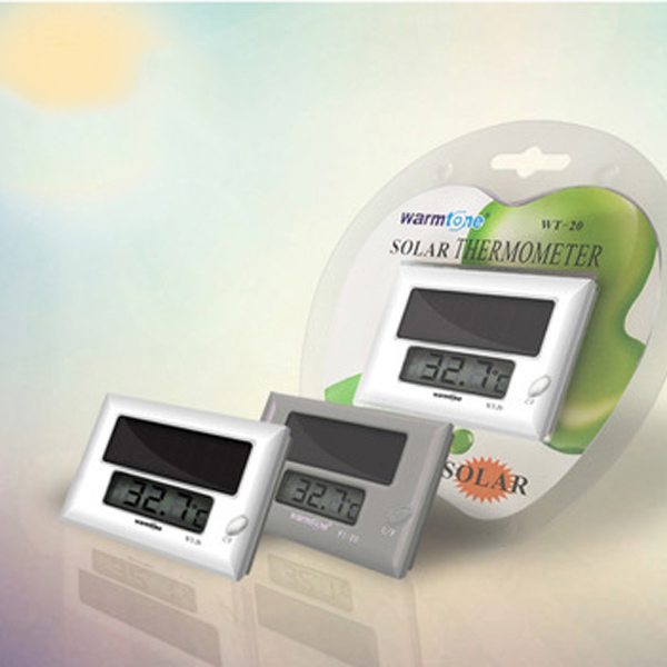 Solar power supply aquarium thermometer LCD display electronic temperature measure outside Fish tank