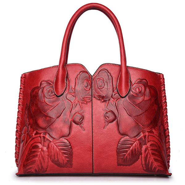 Women Retro PU Leather Handbag