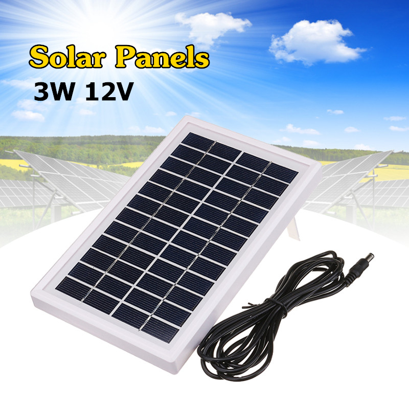 3W 12V Mini Polycrystalline Silicon Solar Panels DIY Powered Kit System