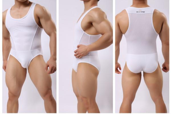 Transparent Mesh Lingerie Wrestling Leotard Hot Body Suits