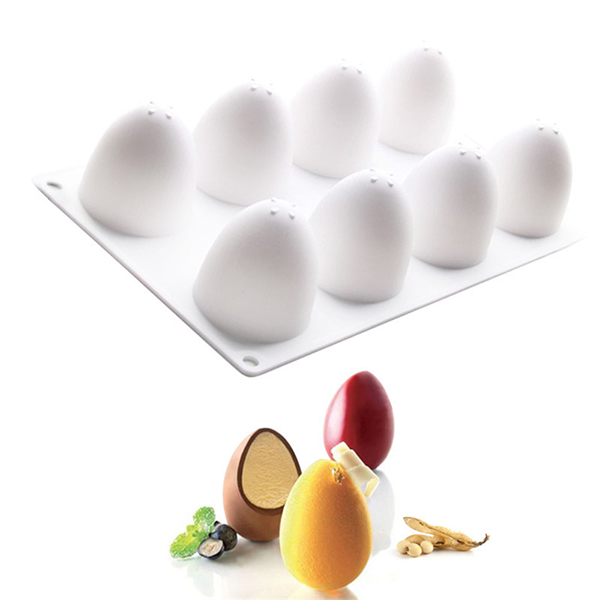 3D Easter Eggs Silicone Baking Mold Bakeware French Dessert Mousse Cake Baking Mold Cupcake Silicone Mousse Mold