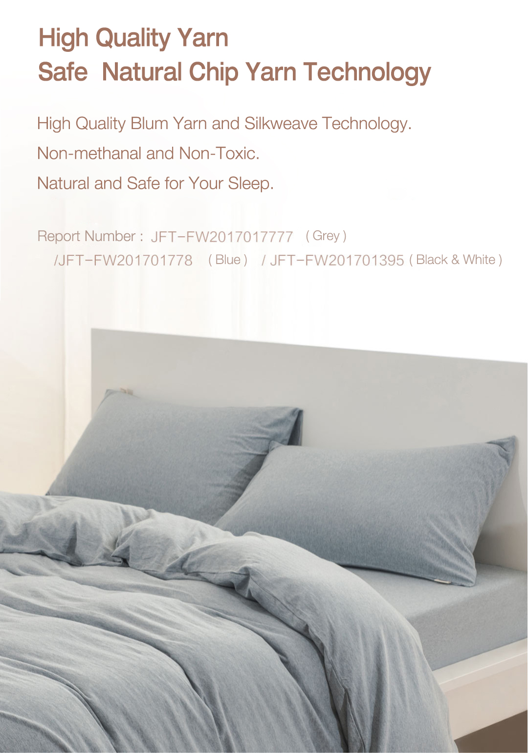 XIAOMI TIANZHU 3Pcs Simple Skin Care Soft India Cotton Fiber Knit Fabric Bedding Sets with Dual Pillowslips Quilt Cover Bed Sheet