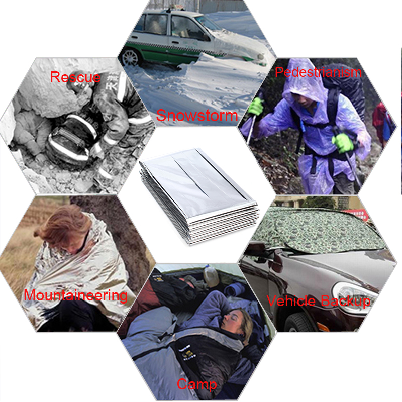 Outdoor Emergency Survival Blanket Tent Sleeping Bag Camping Rescue Hiking Shelter