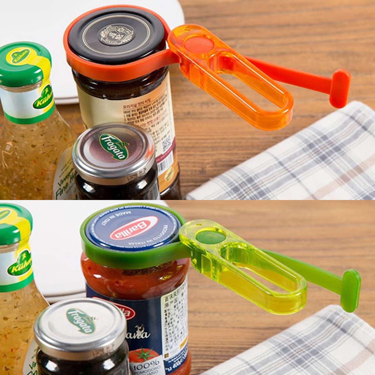 Plastic Multi-function Adjustable Bottle Can Jar Tin Opener Kitchen Opening Tool