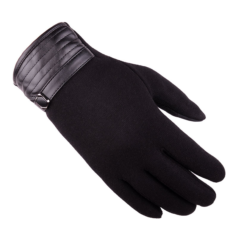 Men Winter Windproof Full-finger Gloves Casual Warm Touch Screen Mittens