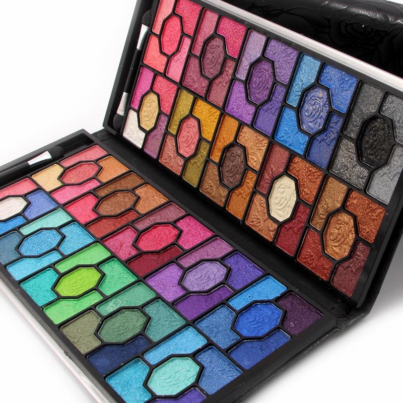MISS ROSE Shimmer Eye Shadow Palette Glitter Eyes Makeup Cosmetics Brown Blue 100 Colors