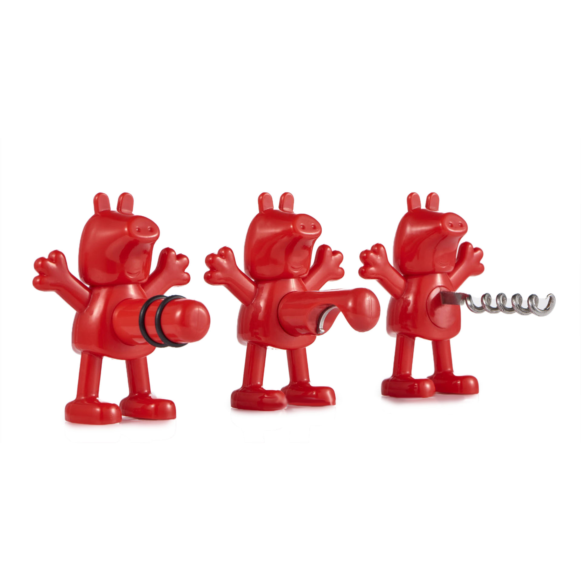 Honana Red Cartoon Opener Pig Pecs Stopper Red Beer Ope