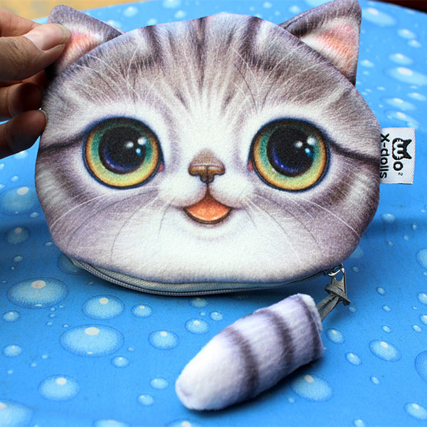 Women Cute Cat Wallet Coin Bag