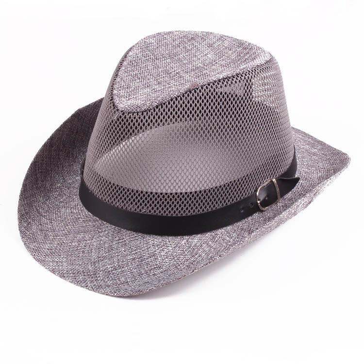 Men Women Mesh Hollow Out Top Hat Hollow Out Panama Hat