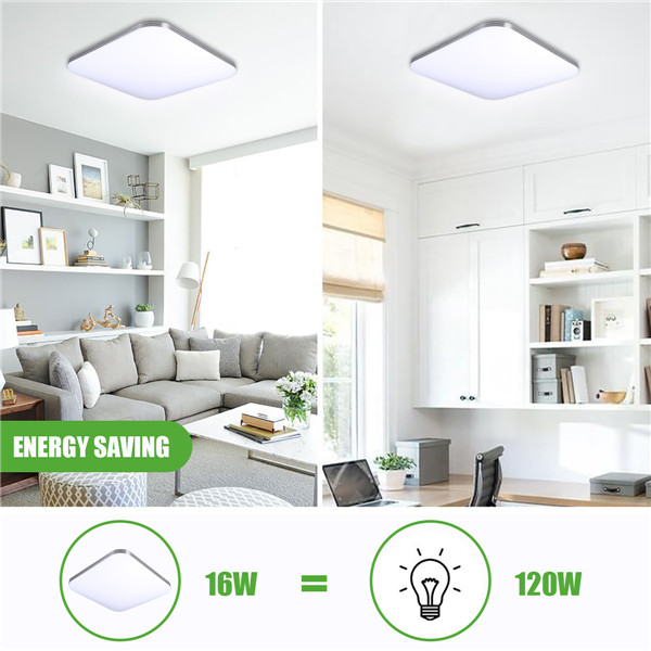 AUGIENB 16W 1400LM Energy Efficient LED Ceiling Light Modern Flush Mount Fixture Lamp AC110-240V