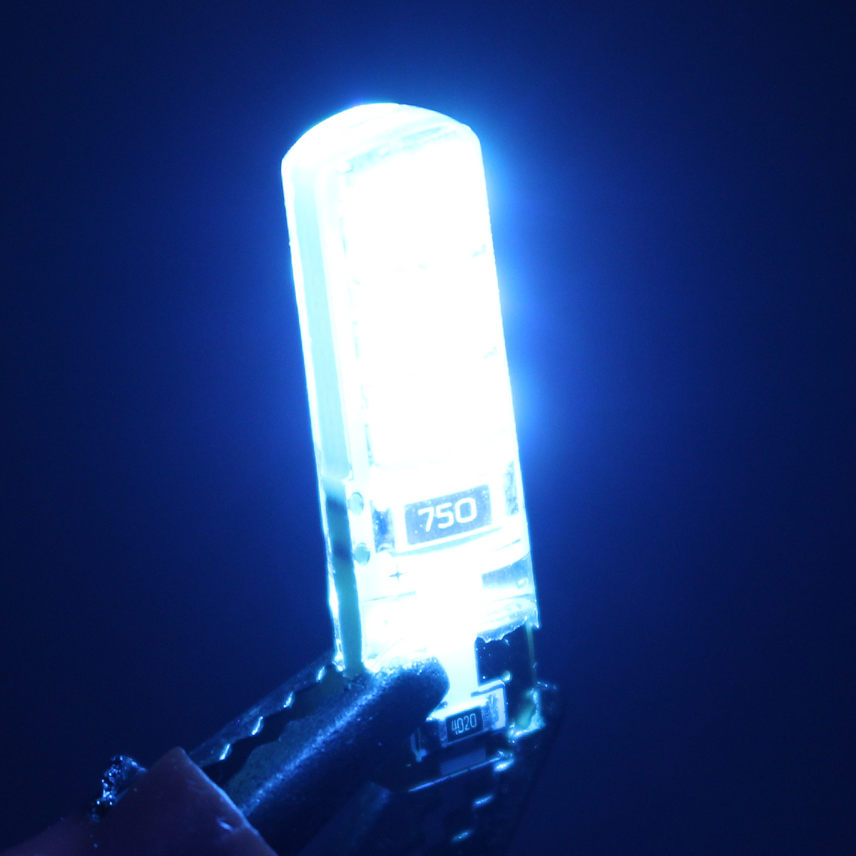 T10 W5W 12SMD 2835 LED Light Board Canbus Error Free Silica Bulb Lamp Ice Blue