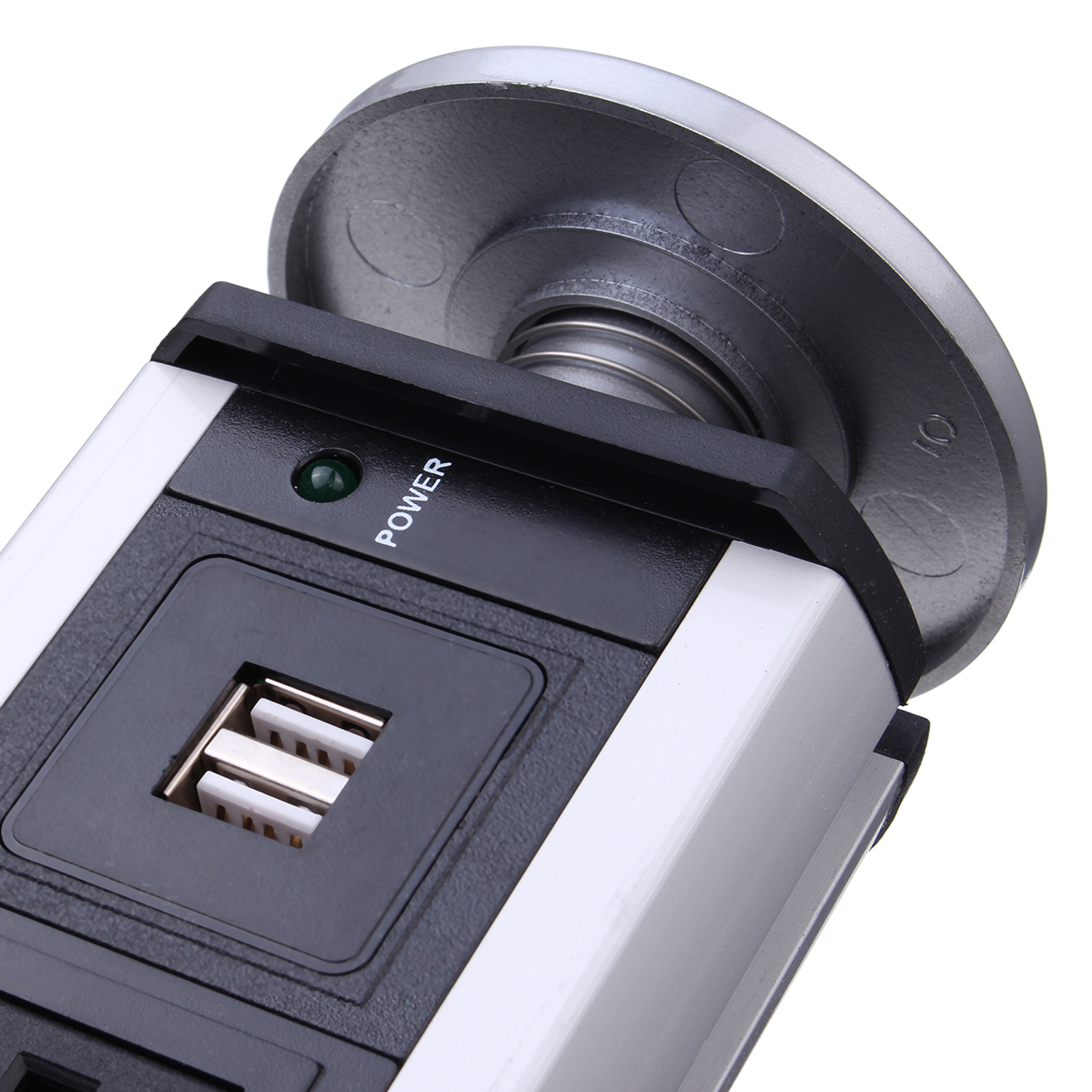 USA Plug 3/4/5/6 Power 2 charge USB Hidden Kitchen Table Pop Up Electrical Socket