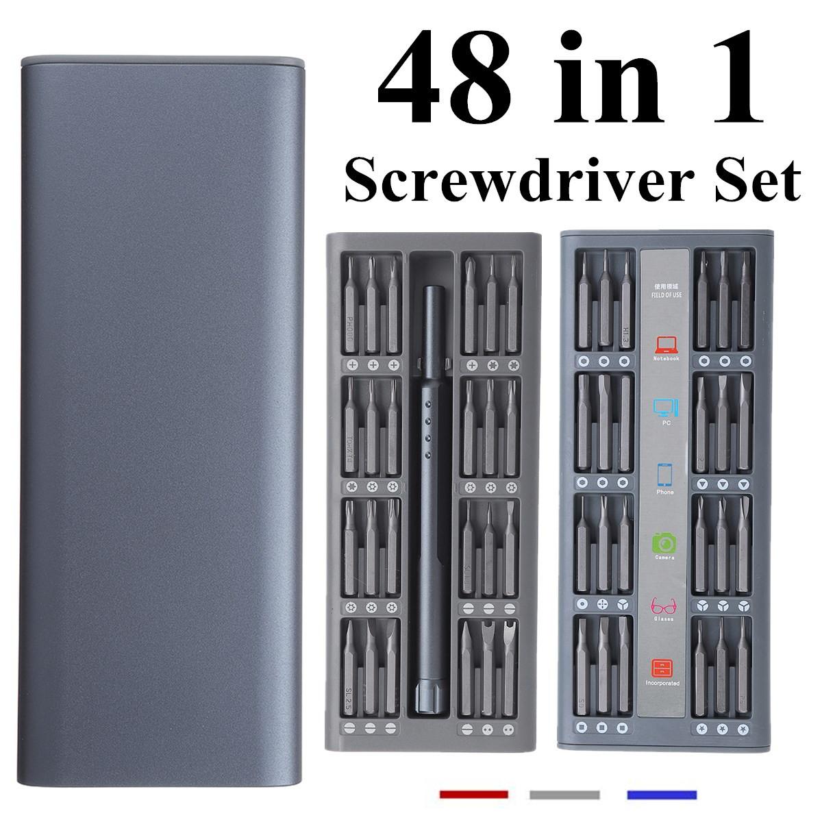 48 In 1 Multi-purpose Precision Screwdriver Set S2 Steel Bits Repair Tools 38