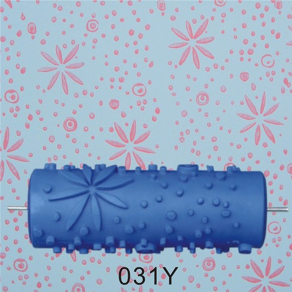 150mm Rubber Embossed Roller Empaistic Painting Roller Wall Brush Painting Tool