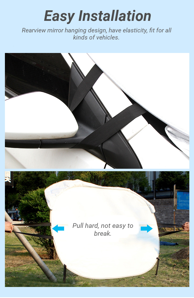Ear Hanging Car Front Windshield Window Sunshade Curtain Summer Aluminum Foil Sun Protection Cover