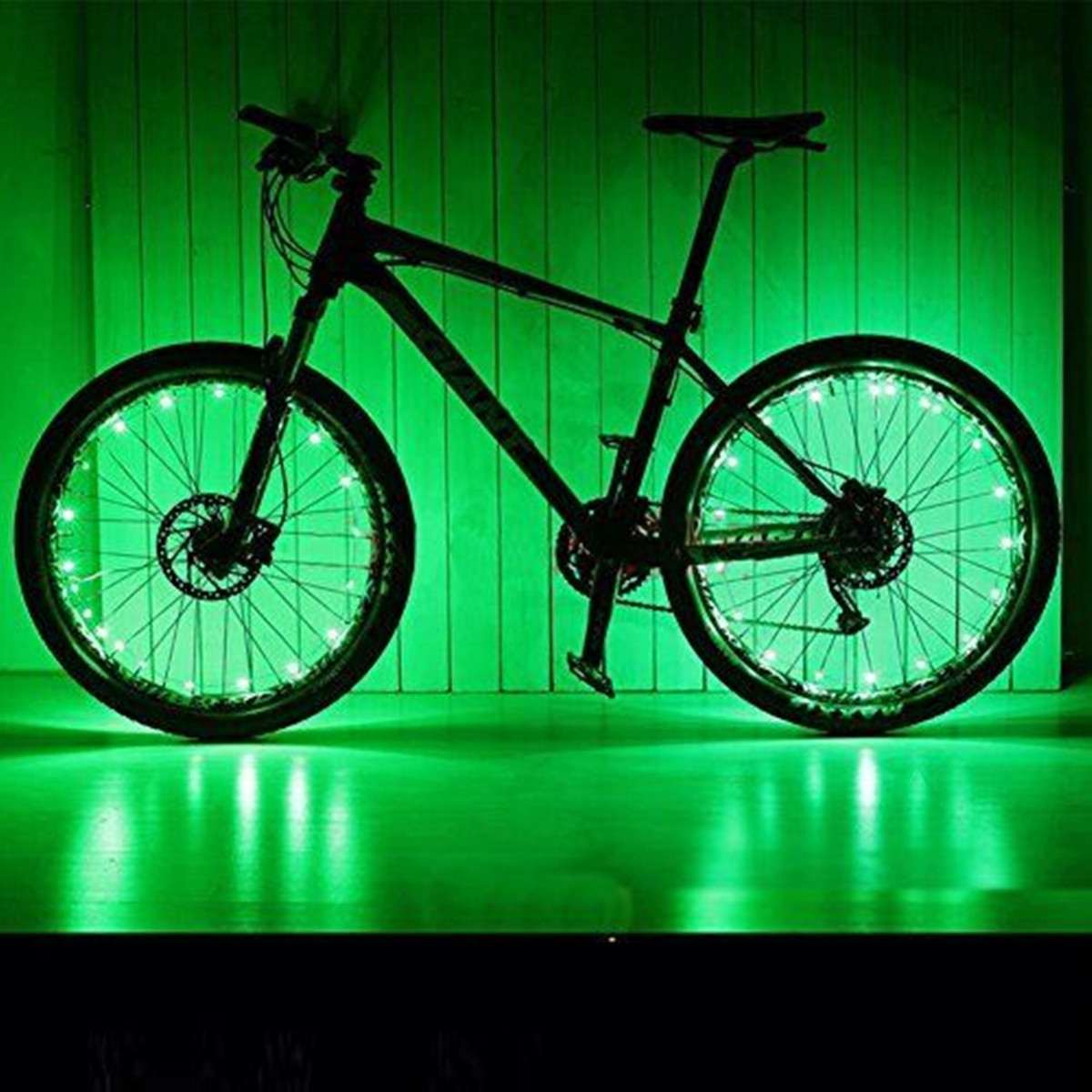 BIKIGHT 20 LEDs 2.2m Bicycle Cycling Waterproof Spoke Tire Wheel Light Bike Accessories