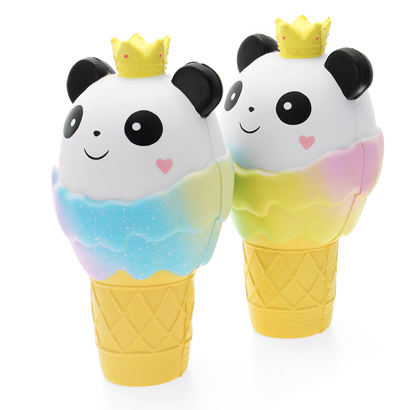 Vlampo Squishy Panda Ice Cream Jumbo 19cm Licensed Slow Rising Original Packaging Collection Gift Decor Toy