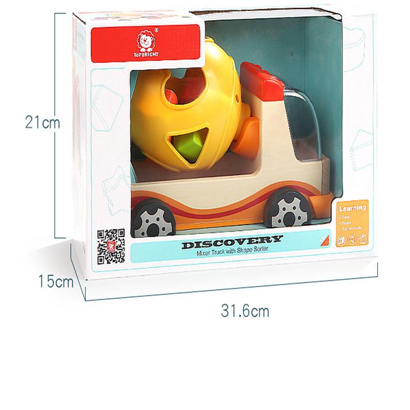 TopBright-120308 Blocks Truck Modeling Shape Cognitive Mixer Toys
