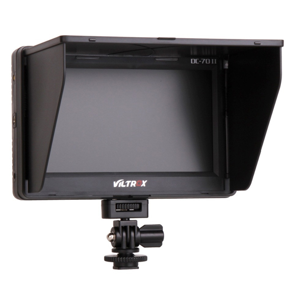 VILTROX DC-70 II 7inch HD 1024x600 Clip-on LCD Camera Monitor HD AV Input for DSLR Sony Canon