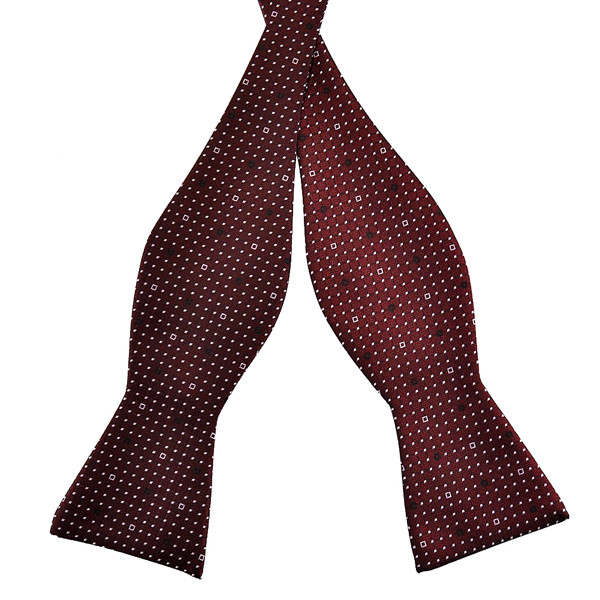 PenSee Men's Bow Ties Business Polka Dot Paisley Jacquard Woven Silk Neckties Accessory