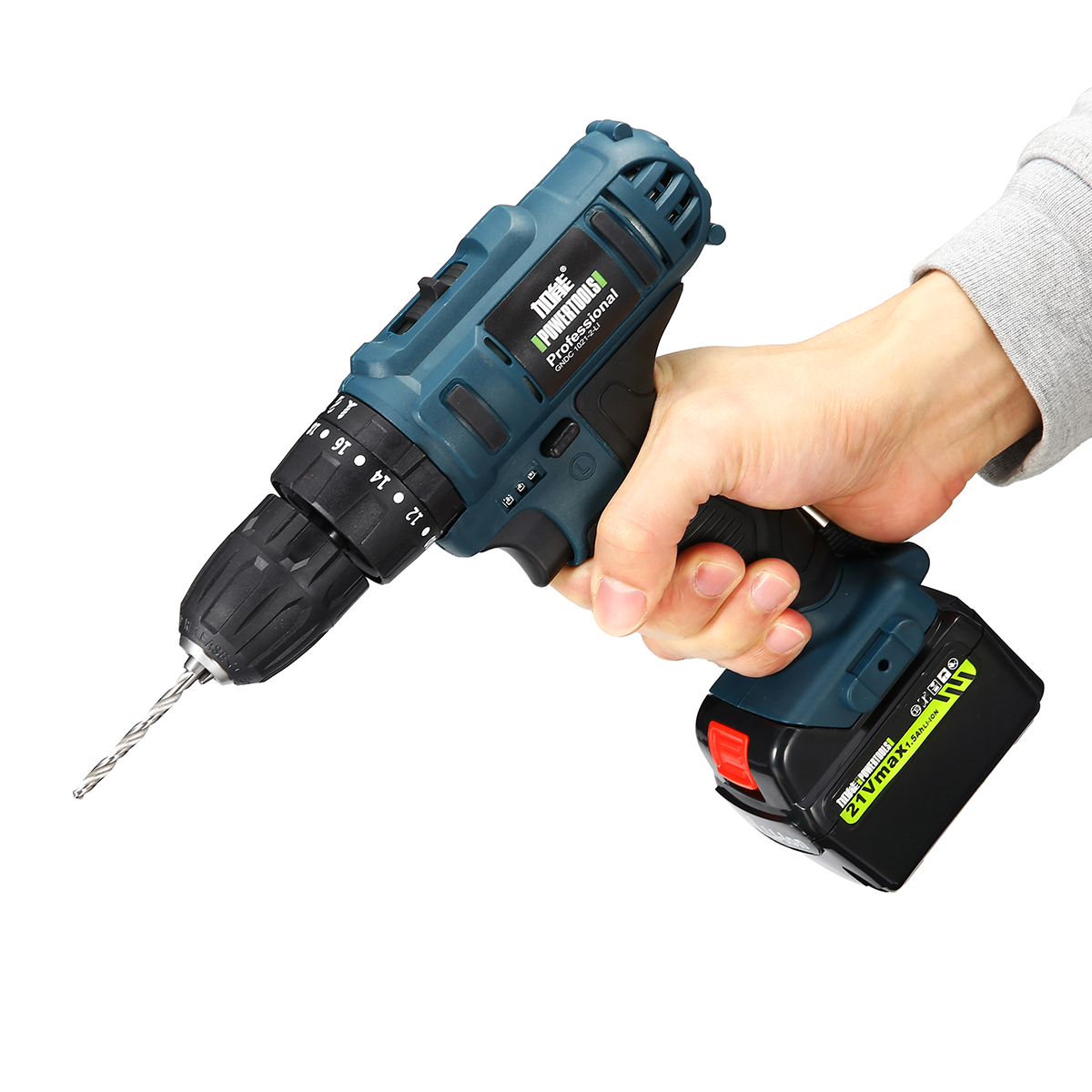 12V/21V LED Light Cordless Electric Impact Drill Power Drills Screwdriver Li-Ion Battery