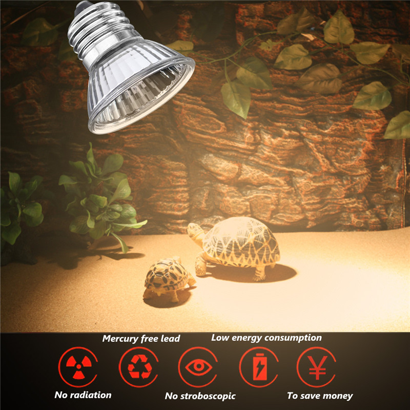 E27 25W 40W 50W 60W 75W UVA+UVB Light Bulb Reptile Pet Terrarium Brooder Heater Lamp AC110V