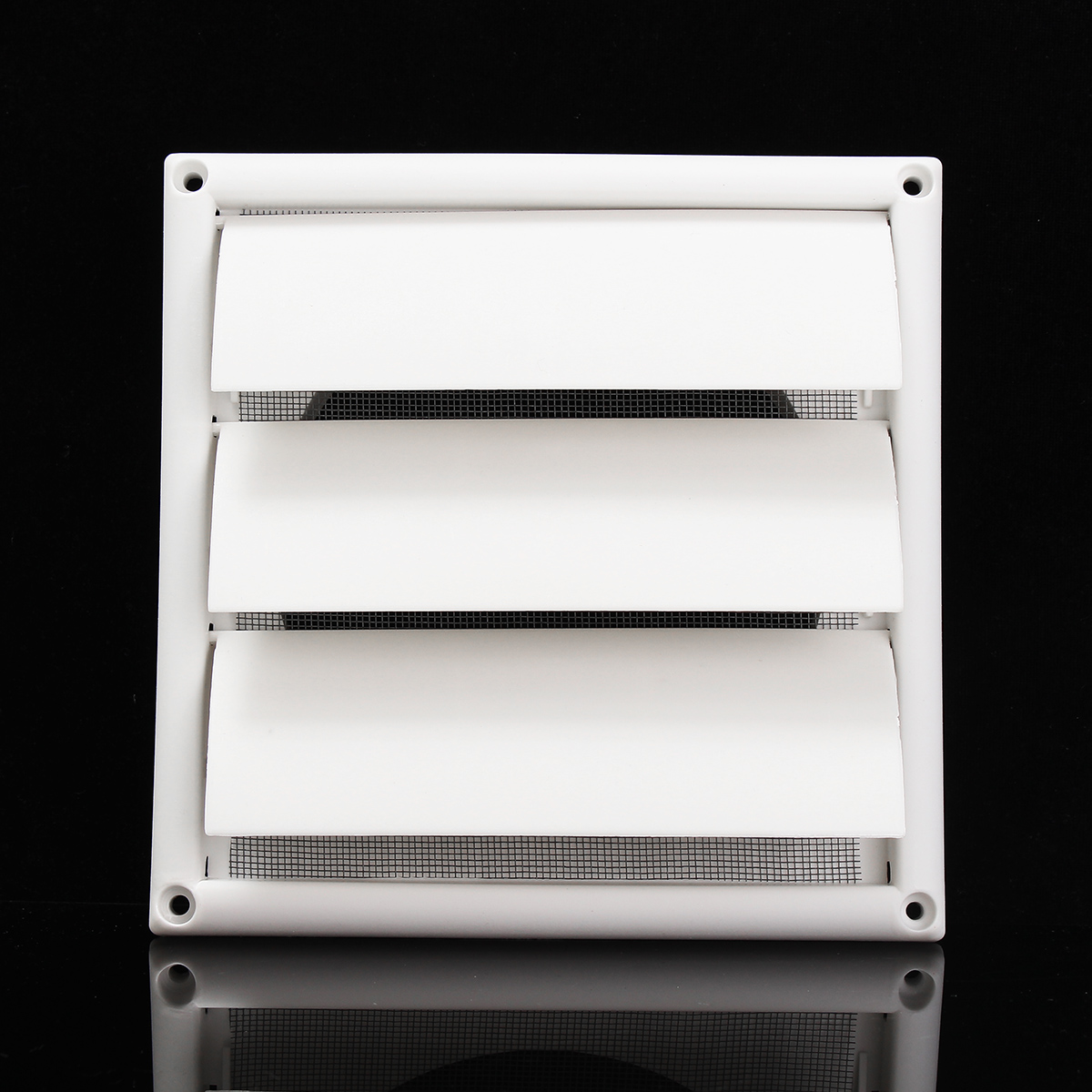 Air Vent Grille Ventilation Cover Plastic White Wall Grilles Duct 200x200x40mm