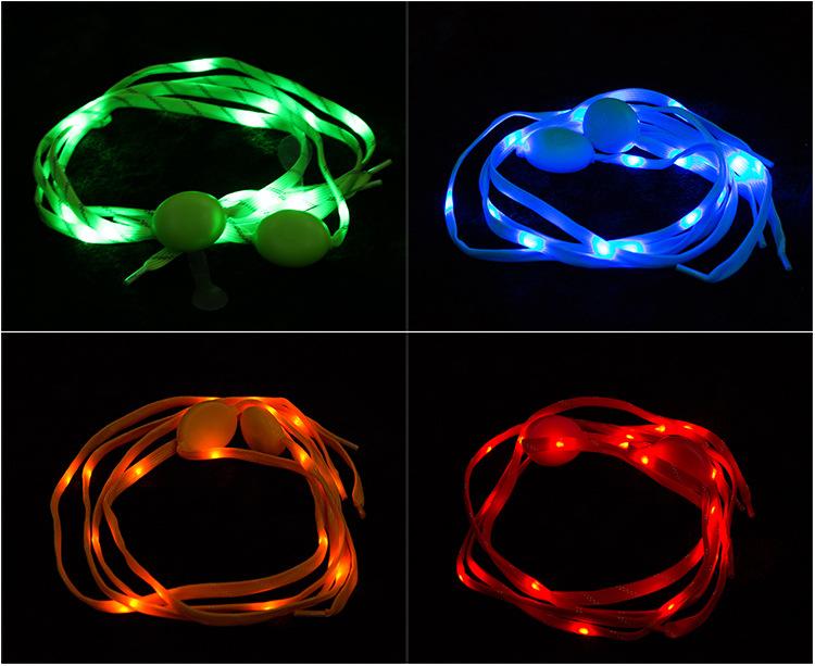 120CM*2 LED Light Shoelace Nylon Glowing Night Runner Safety Shoe String