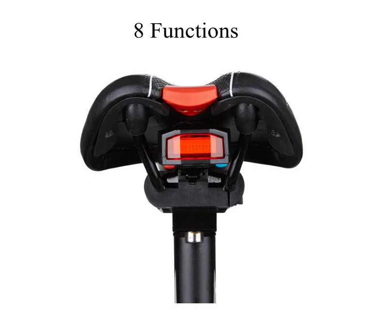ANTUSI A6 3 in 1 Bicycle Wireless Rear Light Cycling Remote Control Alarm Lock Fixed Position Mountain Bike Smart Bell COB Tailight USB Charging