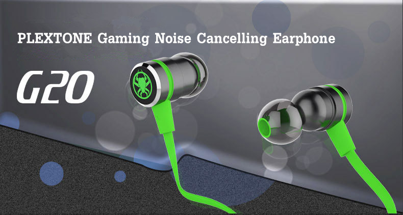 PLEXTONE G20 Gaming Magnetic Noise Cancelling Memory Foam Earphone Headphone With Mic
