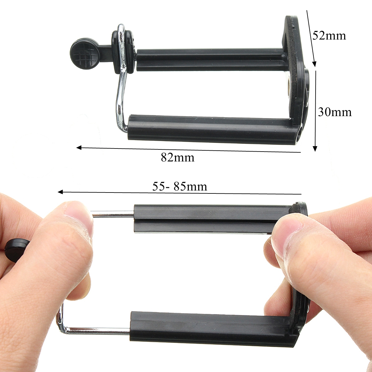 Universal Clip Bracket Tripod Monopod Stand Mount Holder For Selfie Stick Camera Cell Phone