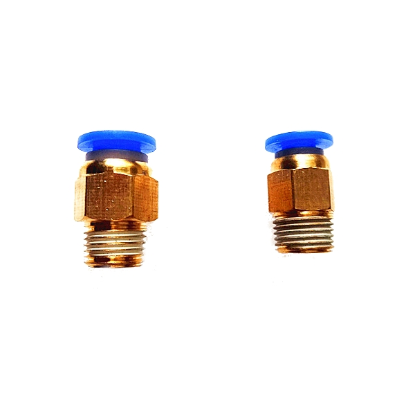1.75mm-3mm Brass Pneumatic Connector Quick Joint For 3D Printer J-head Remote Extruder